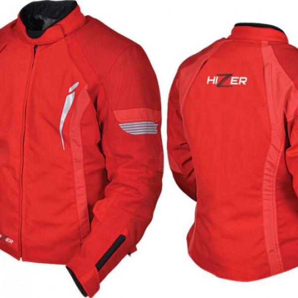 Куртка мотоциклетная женская текстиль Hizer 518 red L